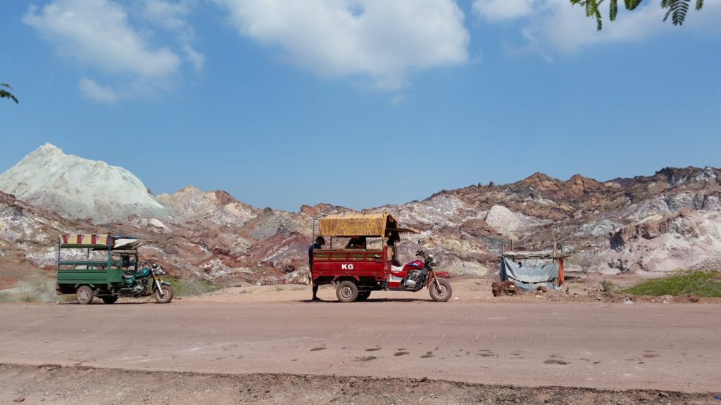 Our Red Tuktuk, Rainbow Valley, Hormoz