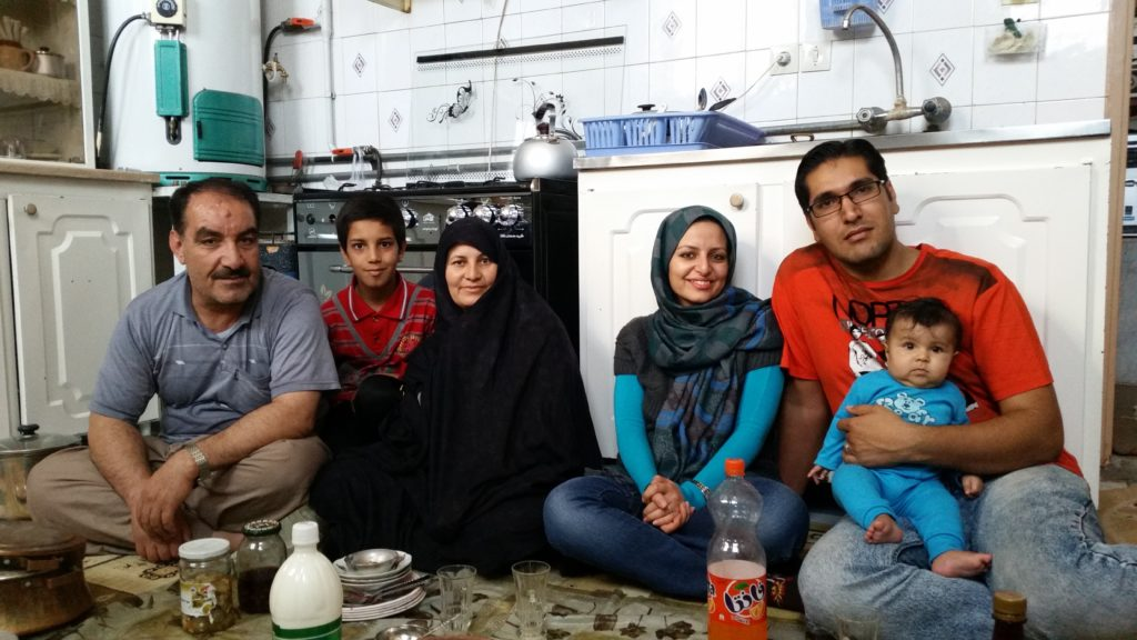 Simin with her family, Rafsanjan.