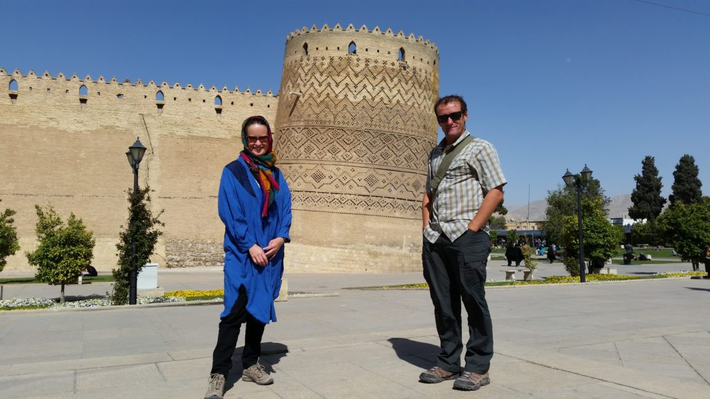 Wearing the manteau & scarf from Mahshid (later on in our trip - in Shiraz)