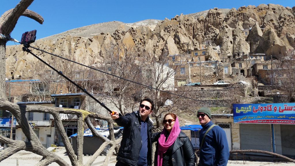 Tabriz hosts took us on a cool excursion here & out came the popular selfie-stick!
