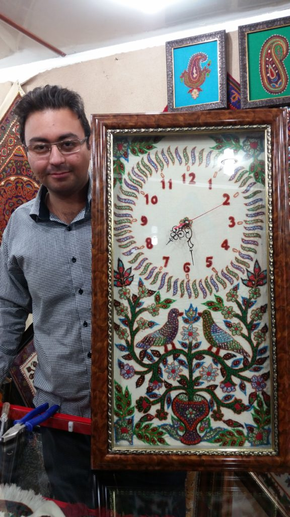 Our clock purchase, Kerman, Iran.