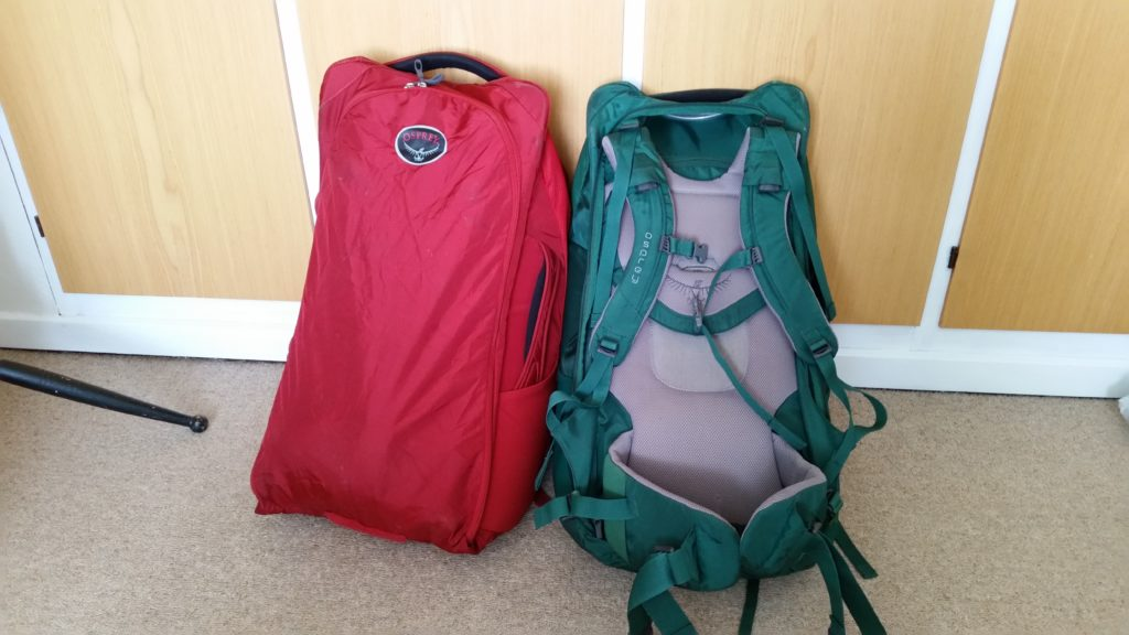 Back of the packs - mine is zipped up hiding the straps.