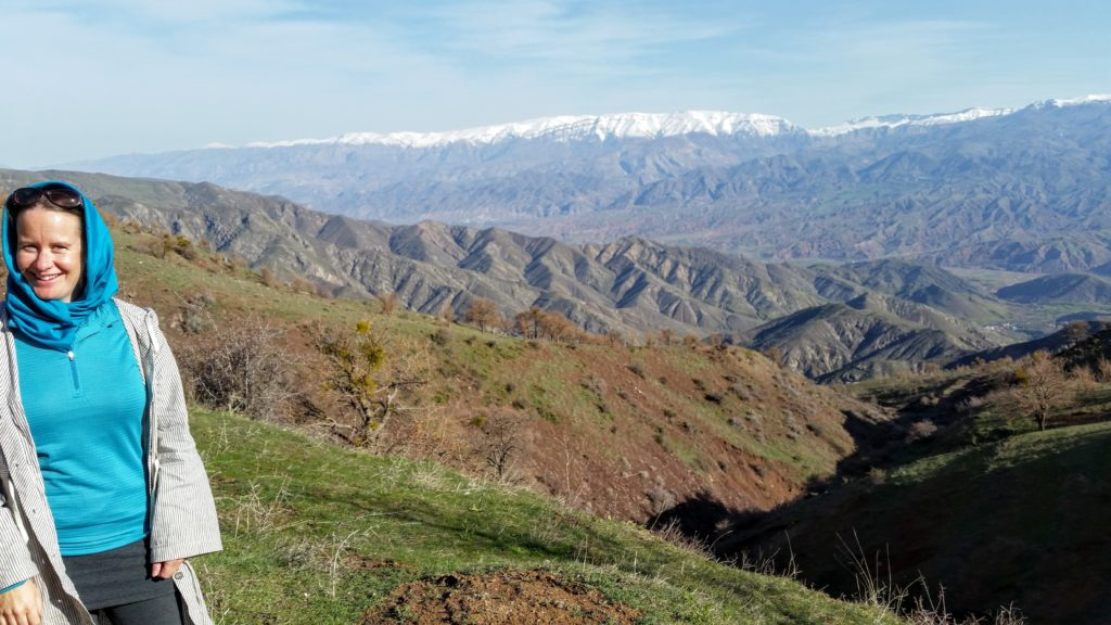 First of many stunning mountain views, Alamut Valley.