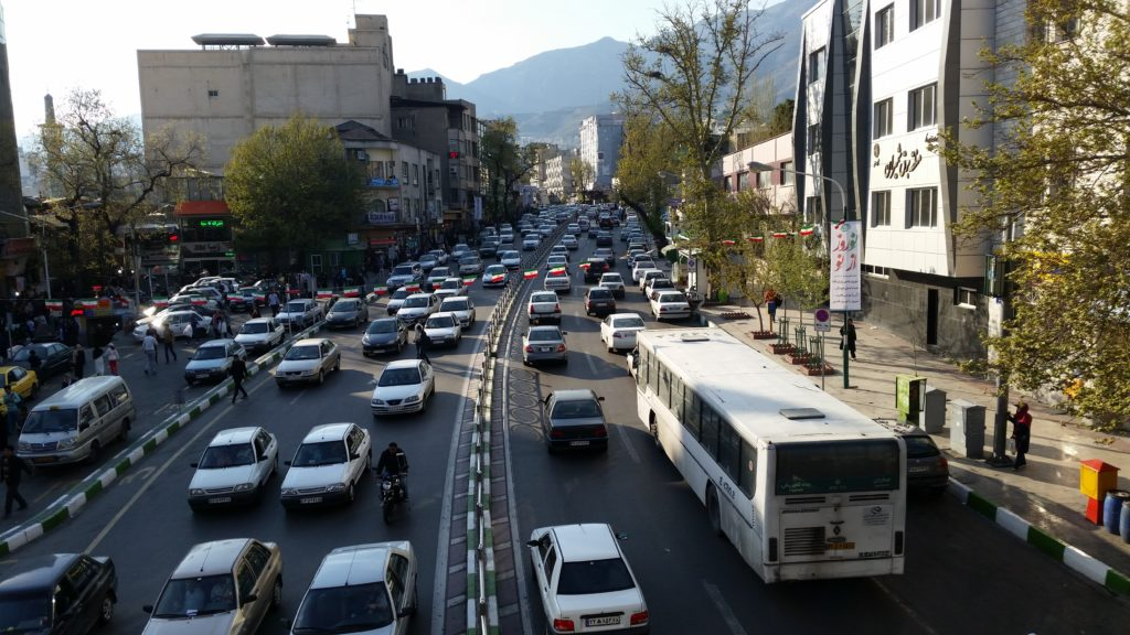 White vehicles are popular in Iran!