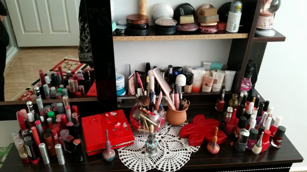 One host's make-up table