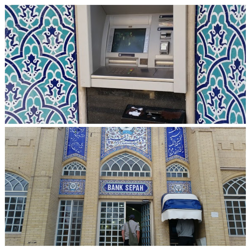 ATM in Esfahan & Bank in Yazd nicely decorated.
