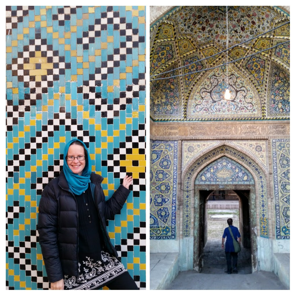 Sardar School tiles & entrance. Qazvin