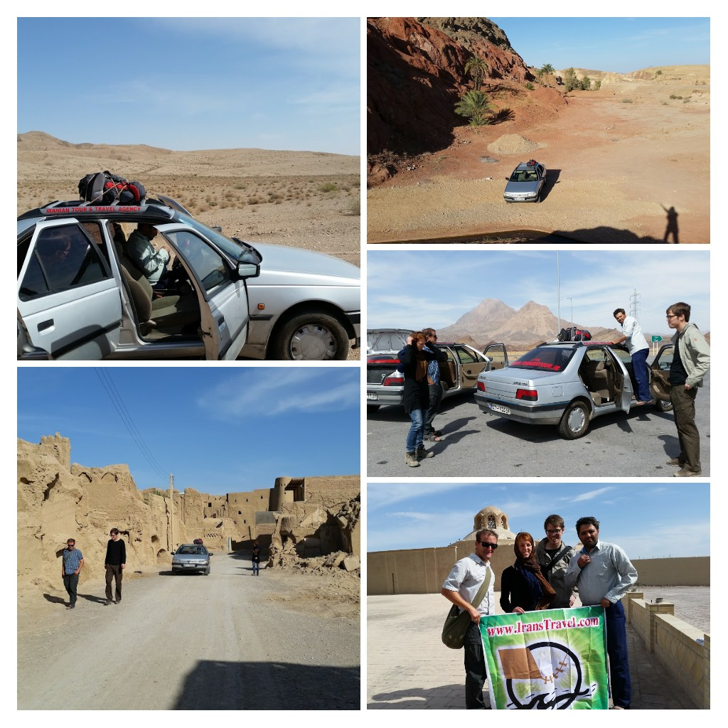 Desert trip in this car with driver Mehdi & German friends.