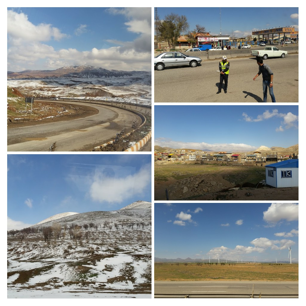 Views from our bus ride, Hamadan - Qazvin.