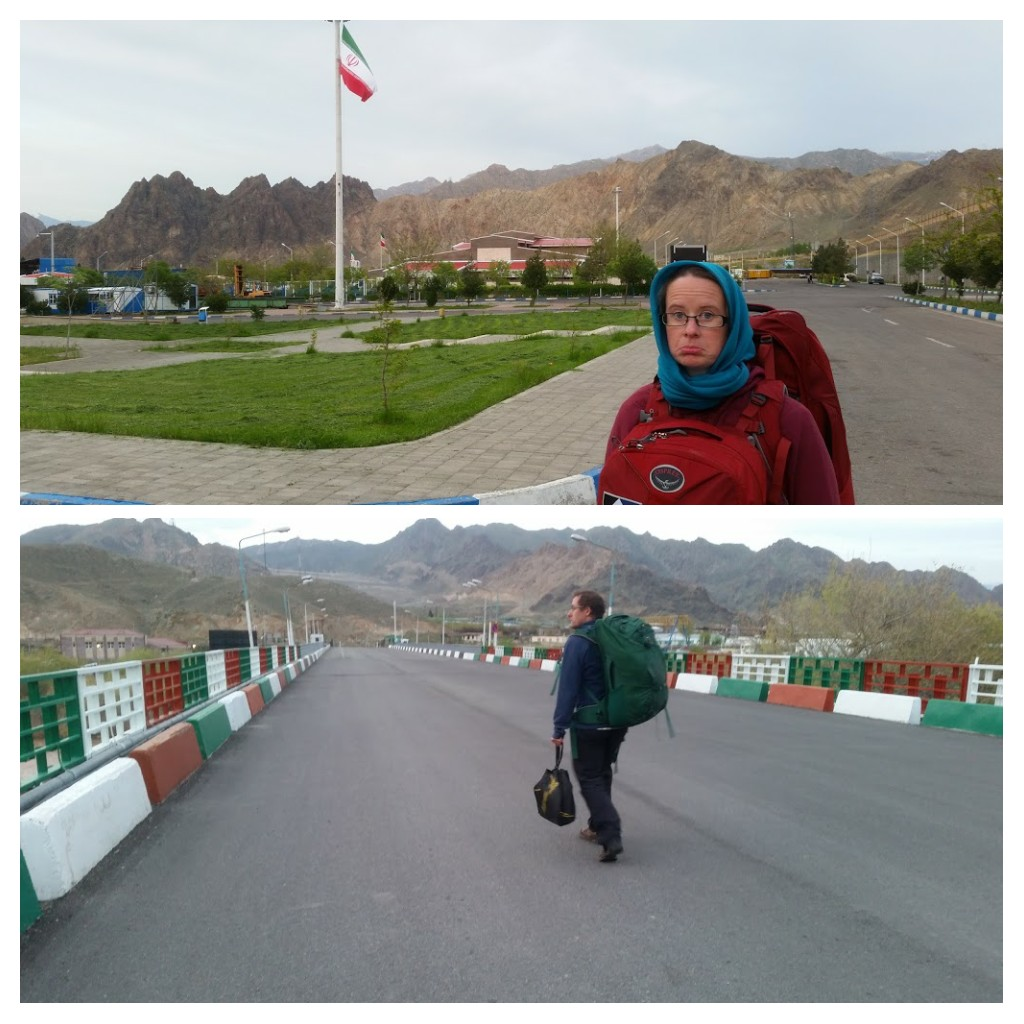Leaving Iran by foot- walking across the border to Armenia.