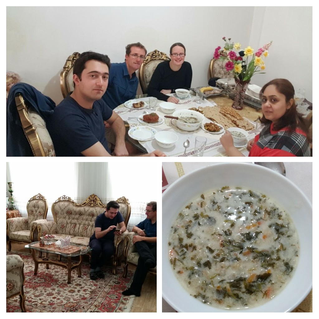 At home with our kind hosts! Near Tabriz