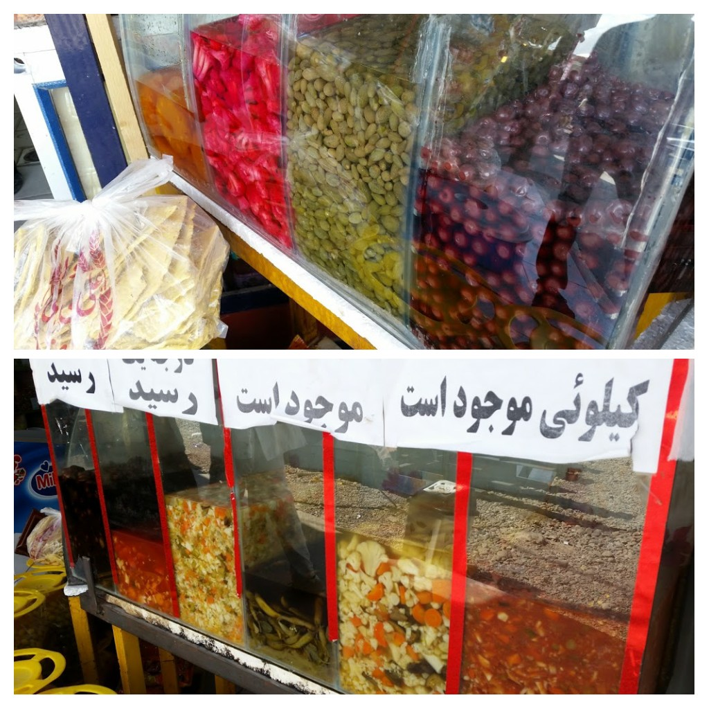 Pickled things and olives, Kerman street shop.